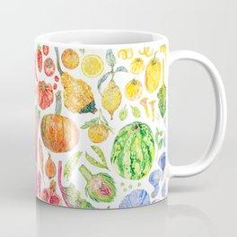 Rainbow of Fruits and Vegetables Coffee Mug