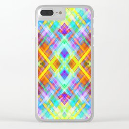 Colorful digital art splashing G71 Clear iPhone Case