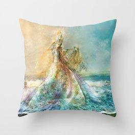 Shell Maiden Throw Pillow