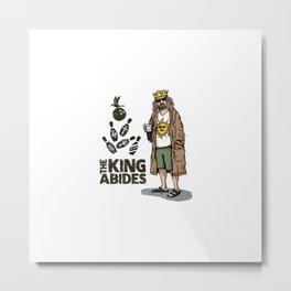 The King Abides Metal Print