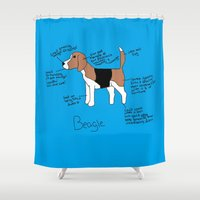 beagle Shower Curtains featuring Beagle by Lindsay Beth