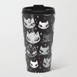 Rockabilly Cats with Pompadours Travel Mug