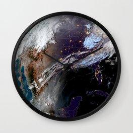 Satellite Map of USA Wall Clock