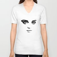 sky ferreira V-neck T-shirts featuring Sky Ferreira by Justified