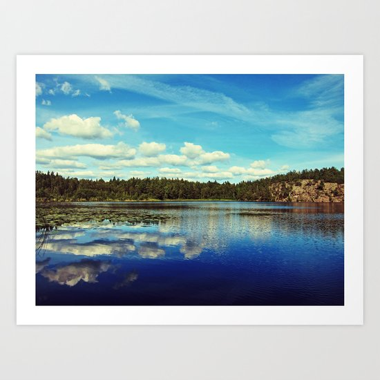 Reflections of nature Art Print