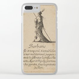 Game of Geography - Barbary Coast (Stefano della Bella, 1644) Clear iPhone Case