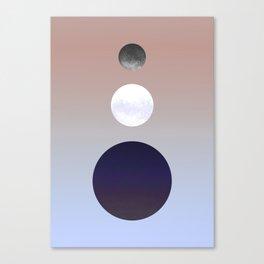 Moon Triplet Dawn Canvas Print