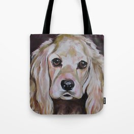 Cocker Spaniel Dog Pet Portrait Tote Bag