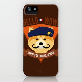 Hello wow, Omelette du Fromage So Much iPhone Case