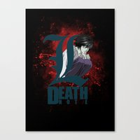 death note Canvas Prints featuring Death Note by feimyconcepts05