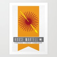 martell Art Prints featuring House Martell Sigil by P3RF3KT