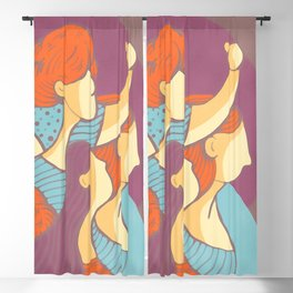 Feminism Wins - Watercolor Soft Colors Blackout Curtain