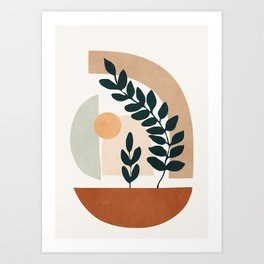 Soft Shapes III Art Print