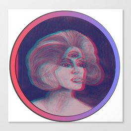 Anna Glyph: Three-Eyed Lady Canvas Print