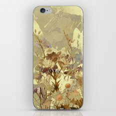 floral on beige iPhone & iPod Skin