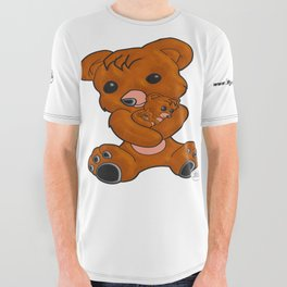 Teddy's Love All Over Graphic Tee