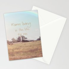 Farm Living is the Life for Me Stationery Cards