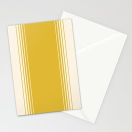Marigold & Crème Vertical Gradient Stationery Cards
