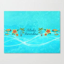 Aloha Beaches Canvas Print