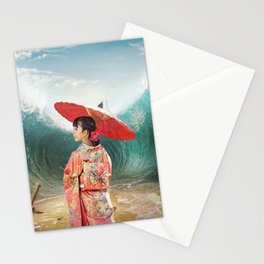 Geisha sea mattepainting Stationery Cards