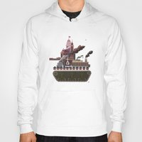 military Hoodies featuring Military-Industrial Complex by James Tuer