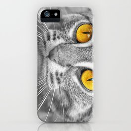 RUSTY SPOTTED CAT iPhone Case