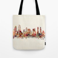 san diego Tote Bags featuring san diego california by bri.buckley