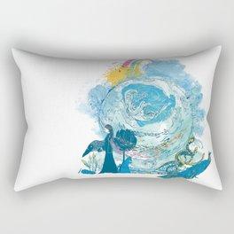i love my planet 2 Rectangular Pillow