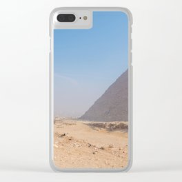 Pyramids of Giza Egypt Cairo Clear iPhone Case