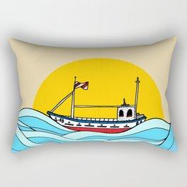 The little fishing boat Rectangular Pillow