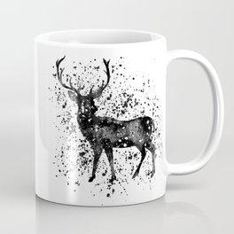 Black & White Stag  Coffee Mug