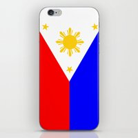 philippines iPhone & iPod Skins featuring Philippines country flag by tony tudor