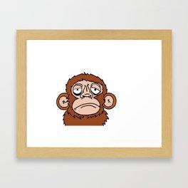 Monkey See Monkey Do Framed Art Print