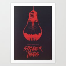 The Upside Down - Stranger Things Art Print