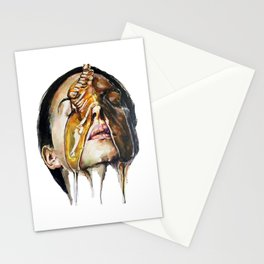 Watercolor Painting of Monica Bellucci La Manna Stationery Cards