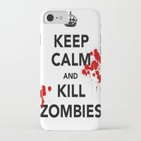 zombies iPhone & iPod Cases featuring ZOMBIES by Tania Joy