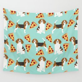 beagle pizza dog lover pet gifts cute beagles pure breeds Wall Tapestry
