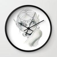 elf Wall Clocks featuring Elf by Alapapaju
