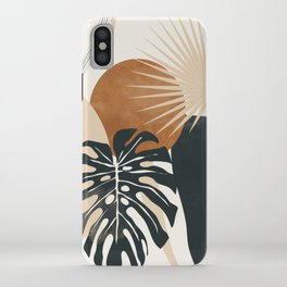 Abstract Art Tropical Leaves 7 iPhone Case