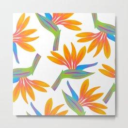 Taro Patch Design Bird of Paradise Metal Print
