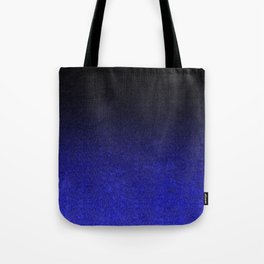 Blue & Black Glitter Gradient Tote Bag