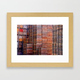 Pallets  Framed Art Print