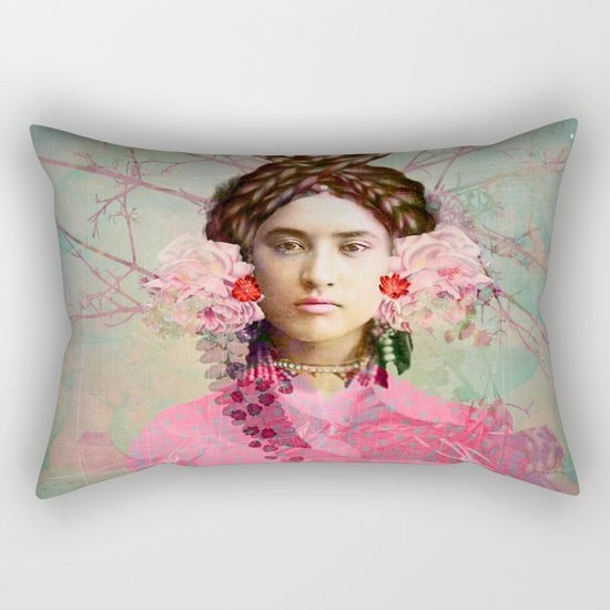 Portrait in Pastell Rectangular Pillow
