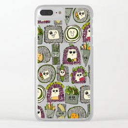 veggie sushi mint Clear iPhone Case
