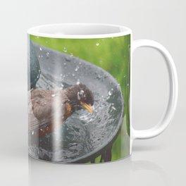 Robin bird bath 2 Coffee Mug