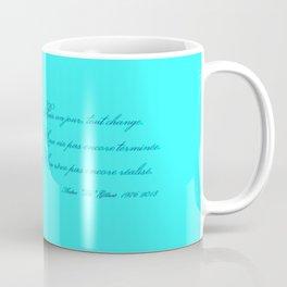 Rememberance, teal Coffee Mug