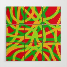 lively lines Wood Wall Art
