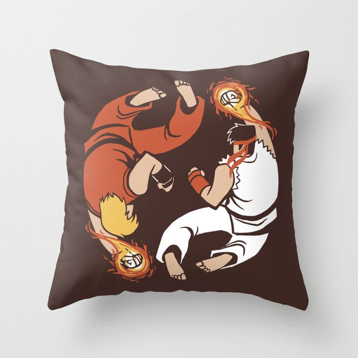 Super Yin Yang Throw Pillow