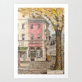 Autumn in Freiburg Art Print