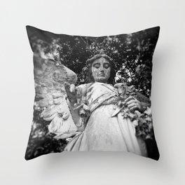 Rose Angel Throw Pillow